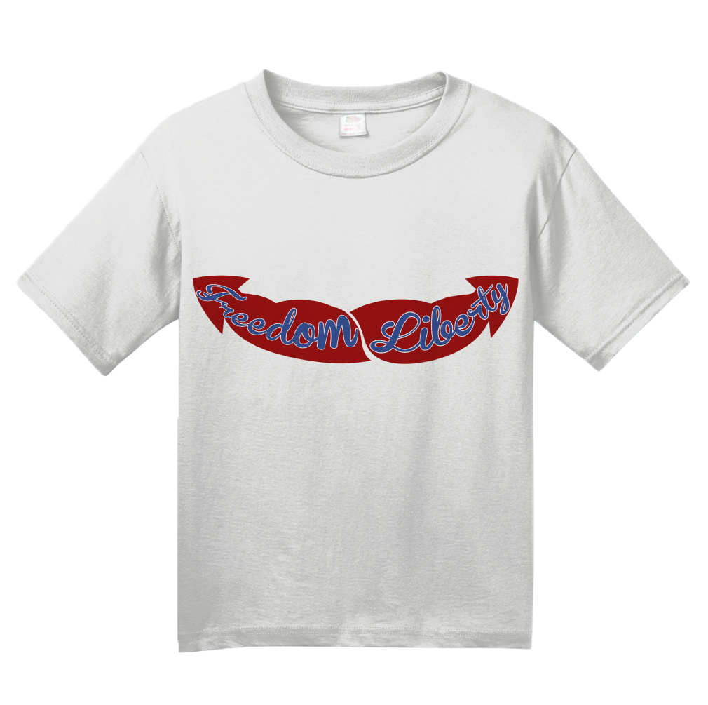 Youth White Freedom & Liberty Guns - Merica Merican 4th of July Patriot USA T-shirt