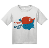 Youth White Canada: America's Hat - 'Merica Pride Funny Insult Joke Canucks T-shirt
