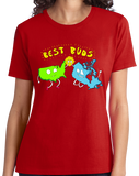 Ladies Red USA & Canada = Best Buds! - Canada Love America Funny T-shirt