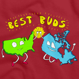 Usa & Canada = Best Buds! T-shirt Red art preview