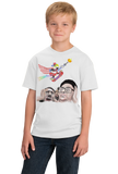 Youth White Epic Skateboarding Eagle - 4th of July Funny 'Merica X-Games T-shirt