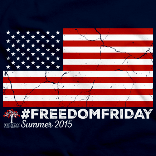 #FREEDOMFRIDAY USA Flag T-shirt Navy Art Preview