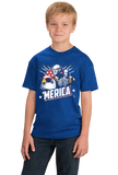 Youth Royal Epic 'Merica - Patriotism Funny American Pride 4th of July Party T-shirt