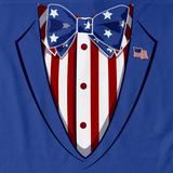 Merica Tuxedo Tee Royal Blue art preview