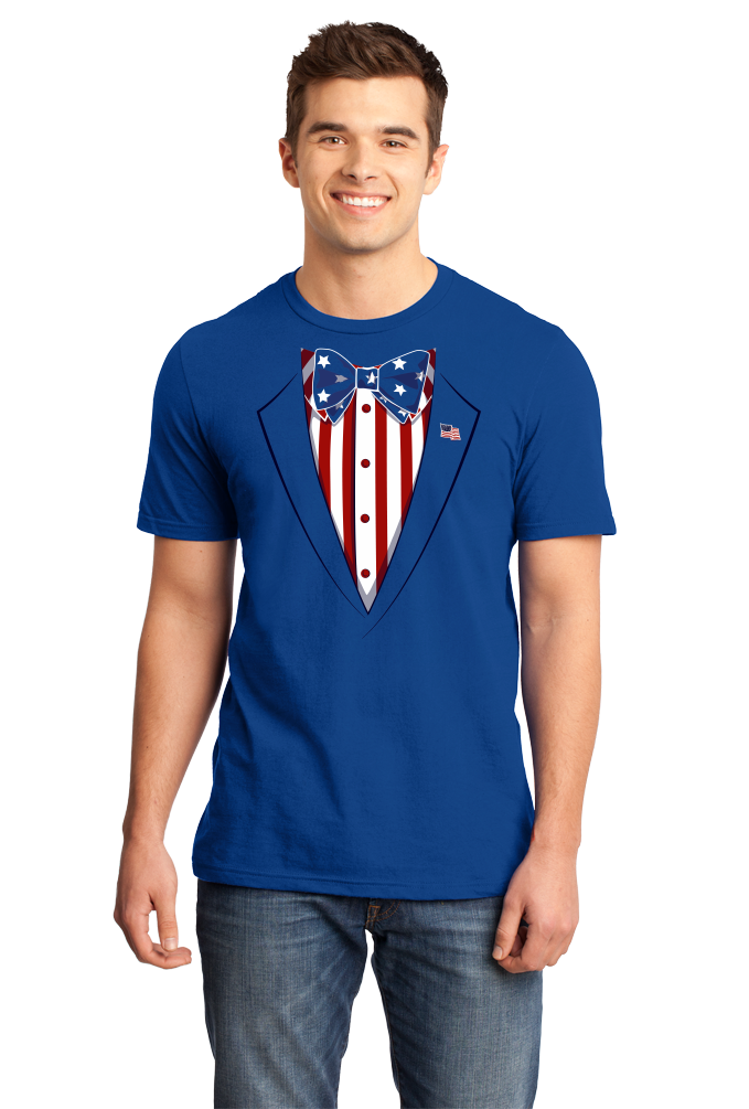 Standard Royal Merica Tuxedo - 4th of July Party USA Pride Funny Drinking T-shirt