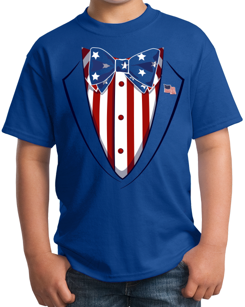 Youth Royal Merica Tuxedo - 4th of July Party USA Pride Funny Drinking T-shirt
