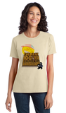 Ladies Natural Fueled By 100% Raw USA Sunshine - Solar Power Green Energy Love T-shirt