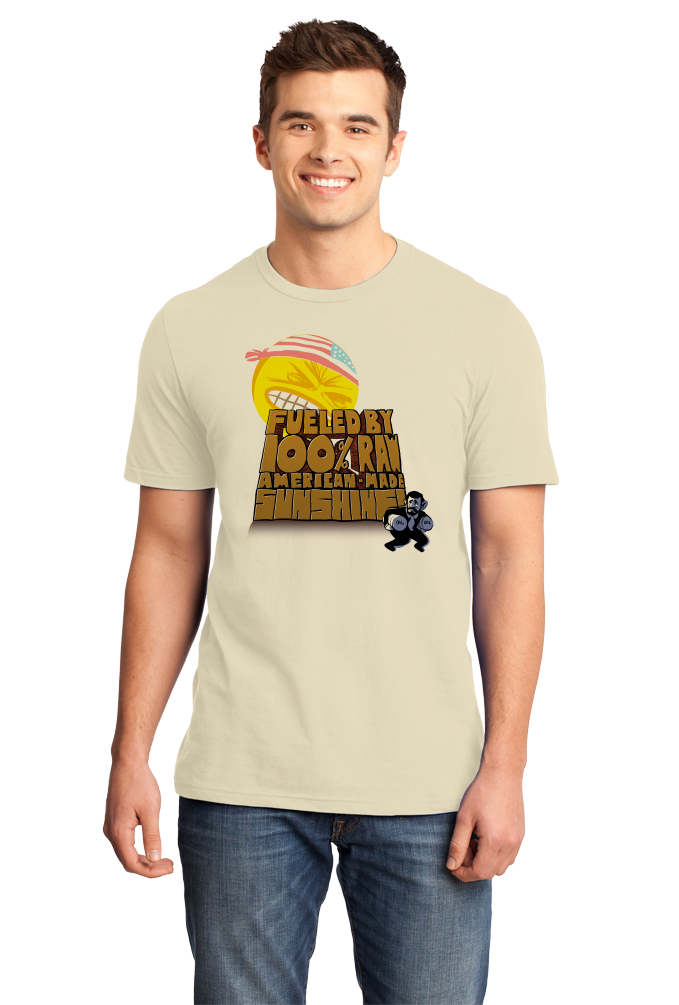 Standard Natural Fueled By 100% Raw USA Sunshine - Solar Power Green Energy Love T-shirt