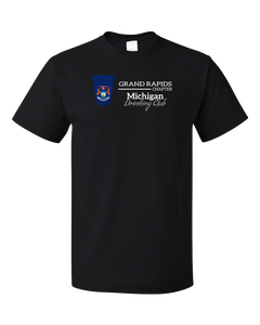 Standard Black Michigan Drinking Club, Grand Rapids Chapter | Funny MI  T-shirt