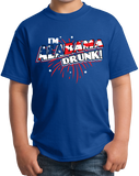 Youth Royal I'm Alabama Drunk! - Dixie Pride Drinking Funny America Love T-shirt