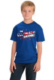 Youth Royal I'm Colorado Drunk! - 4th of July Rocky Mountains USA Party T-shirt