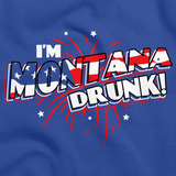I'm Montana Drunk! Royal Blue art preview