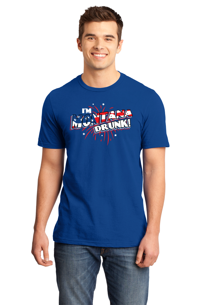 Standard Royal I'm Montana Drunk! - Big Sky Country Pride July 4th USA Party T T-shirt