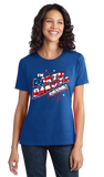 Ladies Royal I'm North Dakota Drunk! - 4th of July Party Drinking Funny Fargo T-shirt
