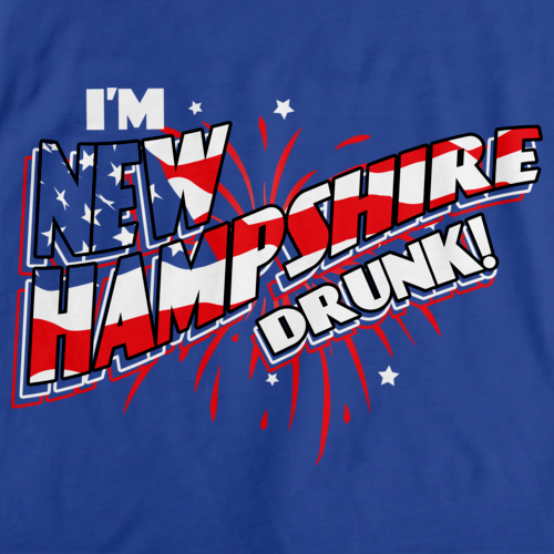 I'm New Hampshire Drunk! Royal Blue art preview