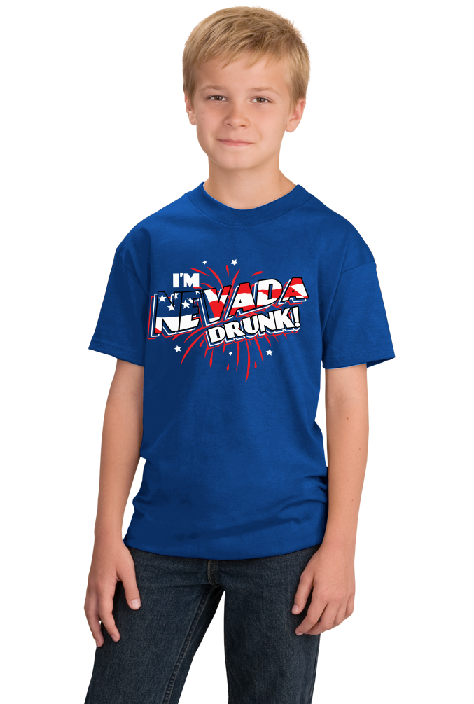 Youth Royal I'm Nevada Drunk! - 4th of July Party Vegas Drinking Funny T-shirt