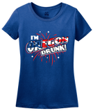 Ladies Royal I'm Oregon Drunk! - Beaver State Pride 4th of July Party Fun T-shirt
