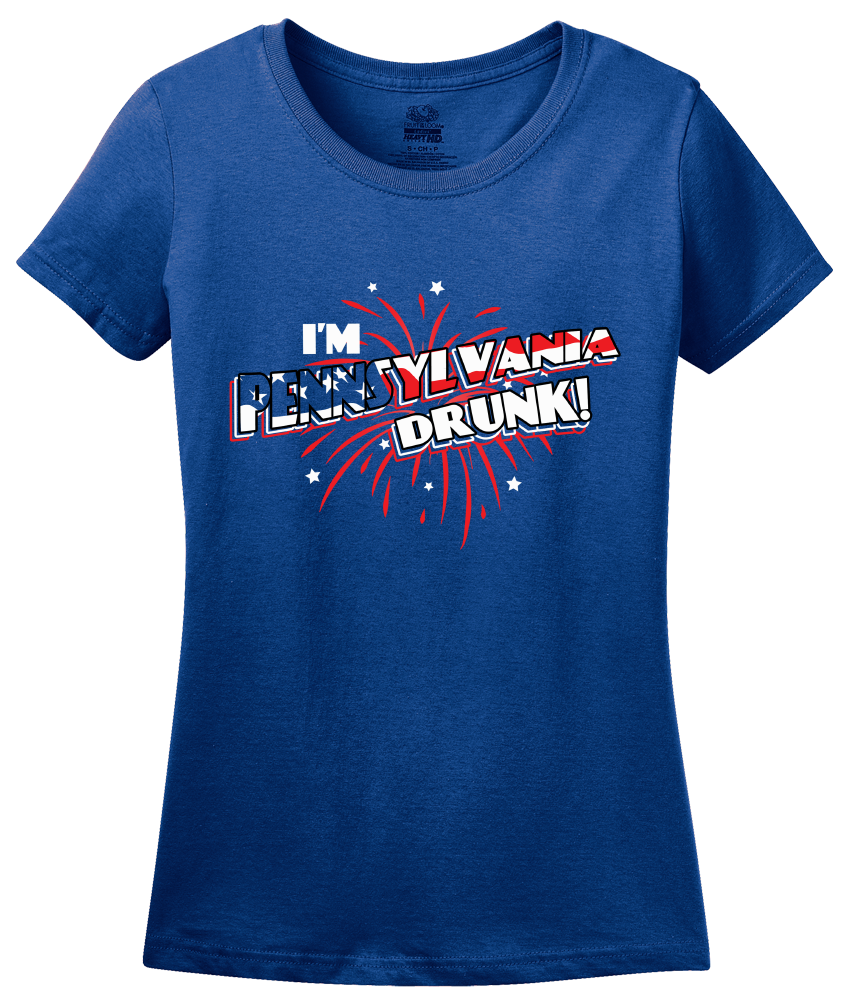 Ladies Royal I'm Pennsylvania Drunk! - July 4th Party Philly Liberty Bell T-shirt