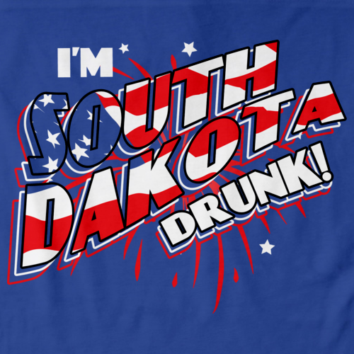 I'm South Dakota Drunk! Royal Blue art preview