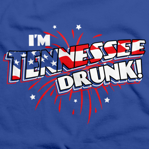 I'm Tennessee Drunk! Royal Blue art preview