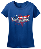 Ladies Royal I'm Vermont Drunk! - Green Mountain State Pride USA 4th of July T-shirt