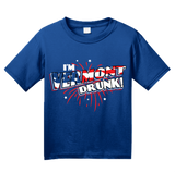 Youth Royal I'm Vermont Drunk! - Green Mountain State Pride USA 4th of July T-shirt