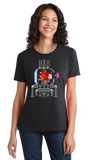 Ladies Black Mother Brain Bill Murray - 90s Video Game Metroid Chive Fan T-shirt