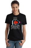 Ladies Black Metroid: Mother Cat - Funny Nintendo 90s Gamer Cat Cute Fan T-shirt