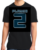 Standard Black Player 2 (Two) - Video Game Fan Funny Halloween Gamer Costume T-shirt