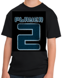 Youth Black Player 2 (Two) - Video Game Fan Funny Halloween Gamer Costume T-shirt