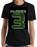 Ladies Black Player 3 (Three) - Video Game Fan Funny Halloween Gamer Costume T-shirt