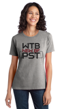 Ladies Grey Wtb New Bf Pst - Funny Gamer Girl Warcraft Humor Boyfriend T-shirt