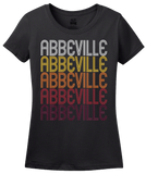 Ladies Black Abbeville, AL | Retro, Vintage Style Alabama Pride  T-shirt