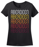 Ladies Black Aberdeen, WA | Retro, Vintage Style Washington Pride  T-shirt