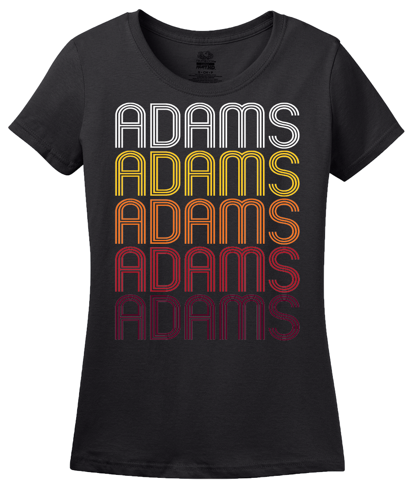 Ladies Black Adams, NY | Retro, Vintage Style New York Pride  T-shirt