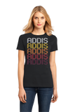 Ladies Black Addis, LA | Retro, Vintage Style Louisiana Pride  T-shirt