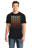 Standard Black Addis, LA | Retro, Vintage Style Louisiana Pride  T-shirt