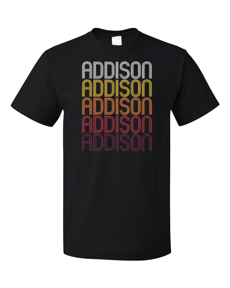 Standard Black Addison, NY | Retro, Vintage Style New York Pride  T-shirt