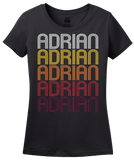 Ladies Black Adrian, MN | Retro, Vintage Style Minnesota Pride  T-shirt