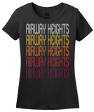 Ladies Black Airway Heights, WA | Retro, Vintage Style Washington Pride  T-shirt