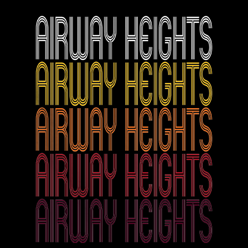 Airway Heights, WA | Retro, Vintage Style Washington Pride