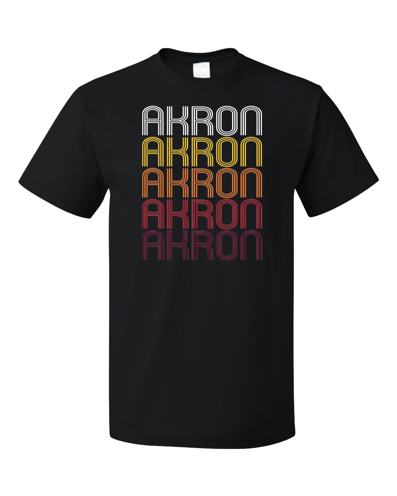 Standard Black Akron, CO | Retro, Vintage Style Colorado Pride  T-shirt