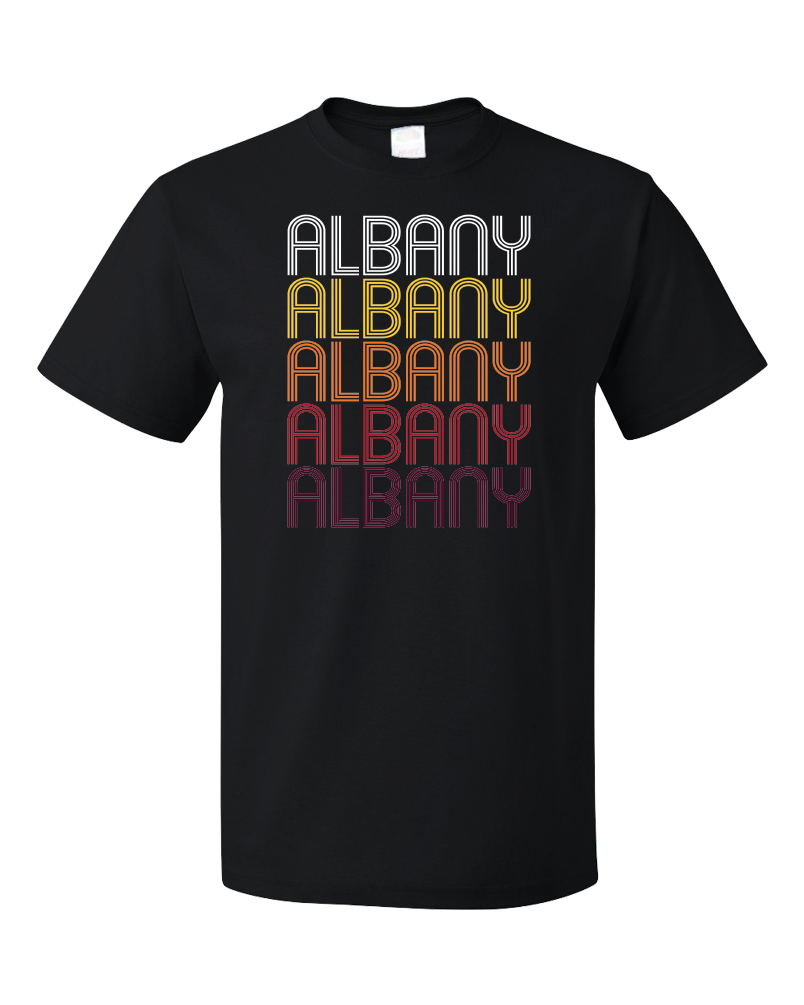Standard Black Albany, WI | Retro, Vintage Style Wisconsin Pride  T-shirt