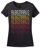 Ladies Black Albemarle, NC | Retro, Vintage Style North Carolina Pride  T-shirt