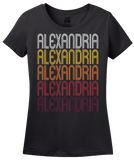 Ladies Black Alexandria, VA | Retro, Vintage Style Virginia Pride  T-shirt
