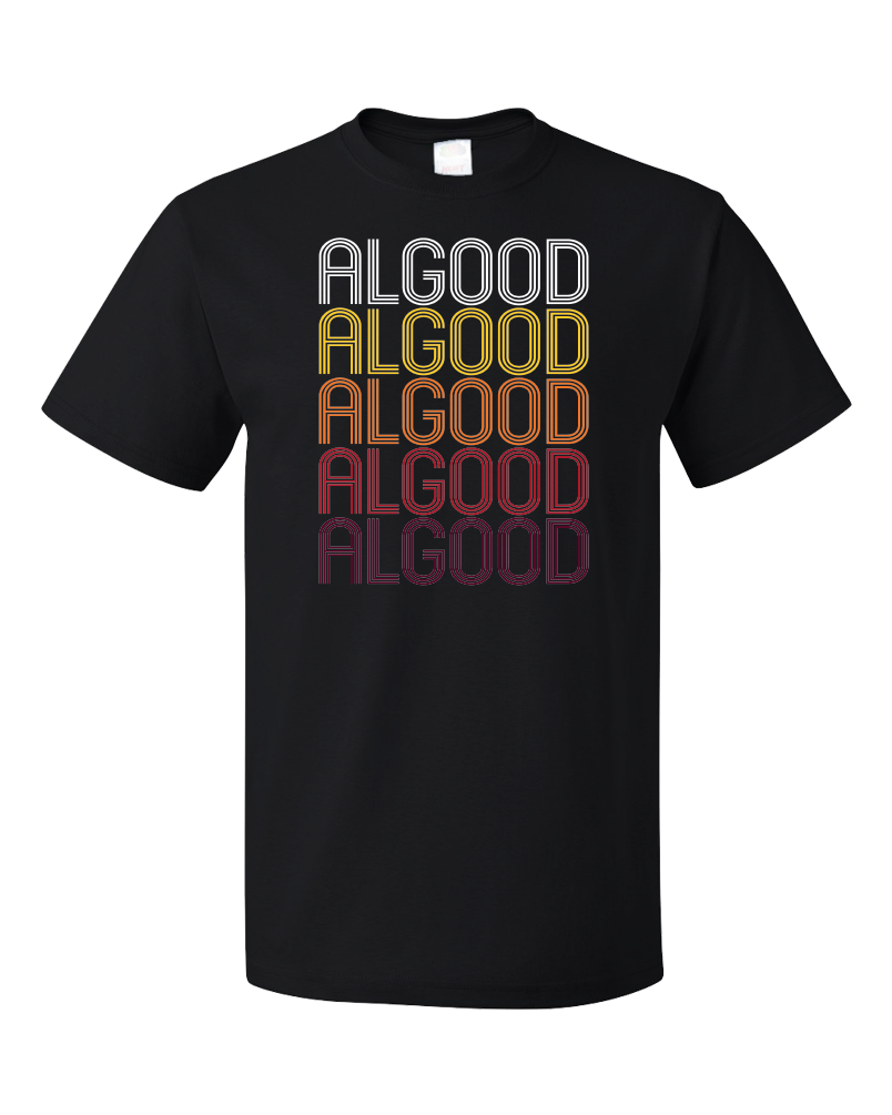Standard Black Algood, TN | Retro, Vintage Style Tennessee Pride  T-shirt