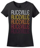 Ladies Black Aliceville, AL | Retro, Vintage Style Alabama Pride  T-shirt