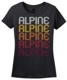 Ladies Black Alpine, UT | Retro, Vintage Style Utah Pride  T-shirt