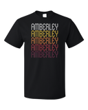 Standard Black Amberley, OH | Retro, Vintage Style Ohio Pride  T-shirt