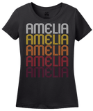 Ladies Black Amelia, OH | Retro, Vintage Style Ohio Pride  T-shirt